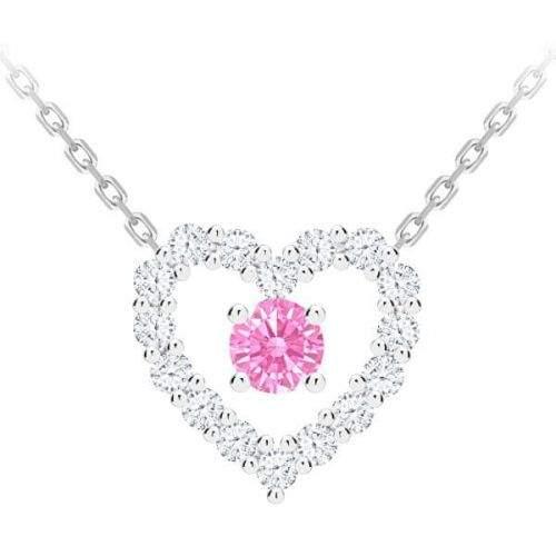 Preciosa Romantický stříbrný náhrdelník First Love s kubickou zirkonií Preciosa 5302 69 stříbro 925/1000
