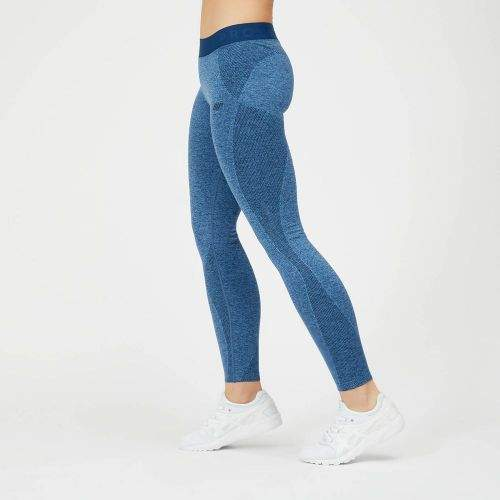 MyProtein Inspire dámské bezešvé sportovní legíny modré Velikost: XS