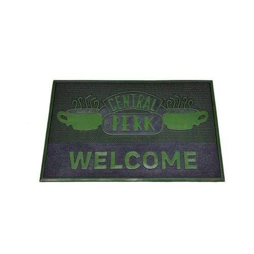 CurePink Gumová rohožka Friends: Central Perk (60 x 40 cm) zelená