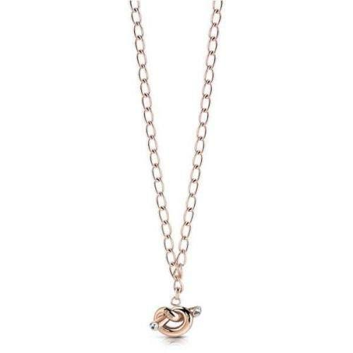 Guess Stylový náhrdelník s uzlem UBN29014