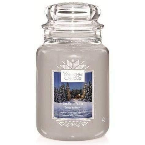 Yankee Candle vonná svíčka Candlelit Cabin (Chata ozářená svíčkou) 623 g