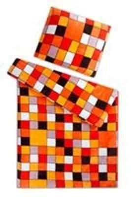 Svitap J.H.J. Povlečení mikroflanel Kostky oranžové 140x200, 70x90 cm