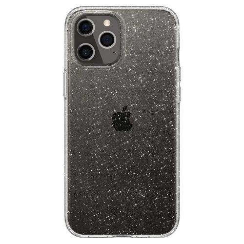 Spigen Liquid Crystal silikonový kryt na iPhone 12 / 12 Pro, průsvitný/trblietavý
