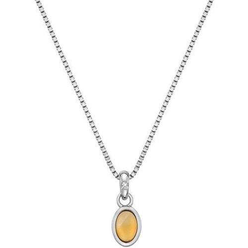 Hot Diamonds Stříbrný náhrdelník pro narozené v listopadu Birthstone DP764 stříbro 925/1000