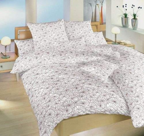 Dadka Povlečení bavlna Leknín bordó 140x200, 70x90 cm