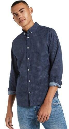 Tom Tailor pánská košile 1021064 1 L tmavě modrá