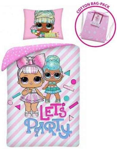 Halantex Povlečení L.O.L. Surprise Party v látkovém vaku bavlna 140x200 70x90