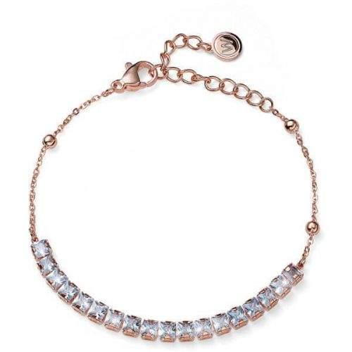 Oliver Weber Bronzový elegantní náramek s krystaly Swarovski Raise 32284RG