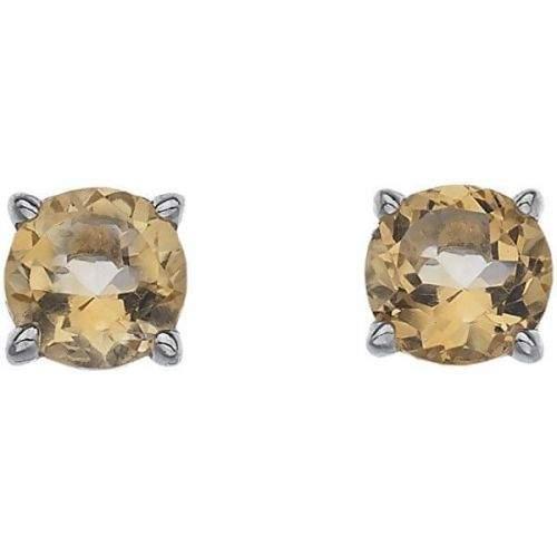 Hot Diamonds Stříbrné náušnice Hot Diamonds Anais Citrin AE011