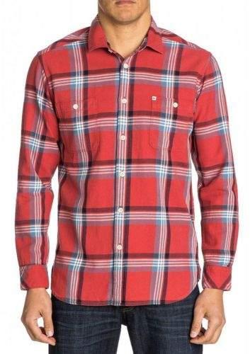 Quiksilver Pánská károvaná košile Quiksilver Červená M, Rukáv: Dlouhý