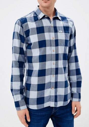 Pepe Jeans Károvaná košile Pepe Jeans PM305264 Modrá S, Rukáv: Dlouhý