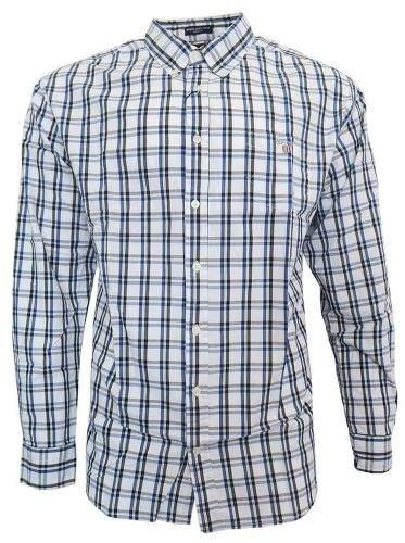 Gant Pánská košile GANT- modro/žluté pruhy Bílá M, Rukáv: Dlouhý