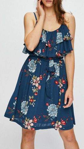 Pepe Jeans Šaty s barevnými květy PEPE JEANS PL952338 FLORA Velikost: XS