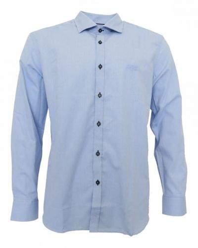 Galvanni košile modrá s černými knoflíčky Modrá XXL
