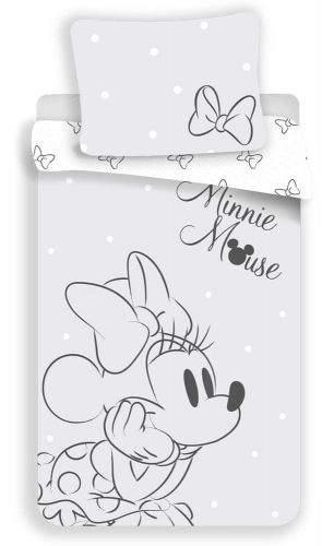 Jerry Fabrics Povlečení Minnie mašle šedá