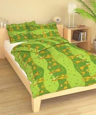 Dadka Povlečení bavlna do postýlky Žirafa zelená 90x130, 45x60 cm