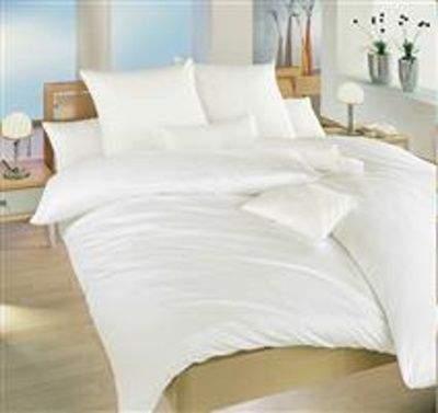 Dadka Povlečení bavlna bílá UNI 140x200, 70x90 cm