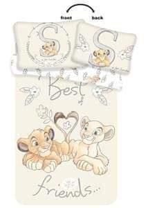 Jerry Fabrics Disney povlečení do postýlky Lví Král Best Friends baby 100x135, 40x60 cm