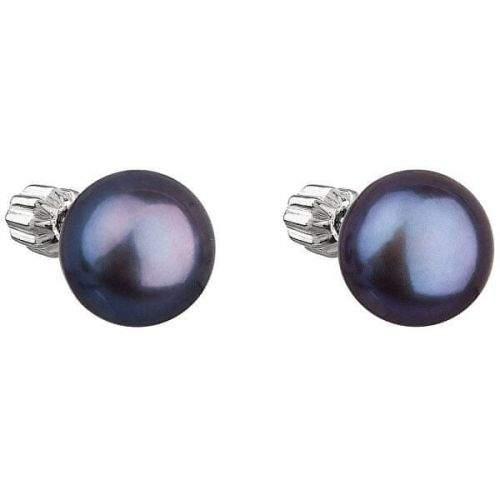 Evolution Group Stříbrné náušnice s pravými perlami Pavona 21004.3 peacock