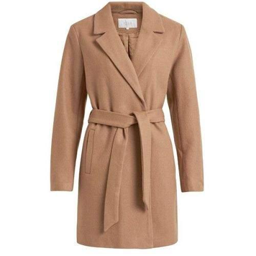 VILA Dámský kabát VILUS 14047053 Dusty Camel (velikost 38)
