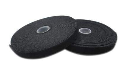 Digitus stahovací páska, textiliní, 10m x 15 mm x 2,6 mm, kotouč, UL, bl