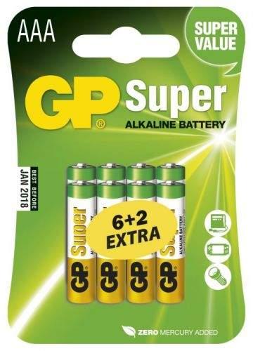 GP Batteries GP AAA alkalická - 8 ks (6 + 2)