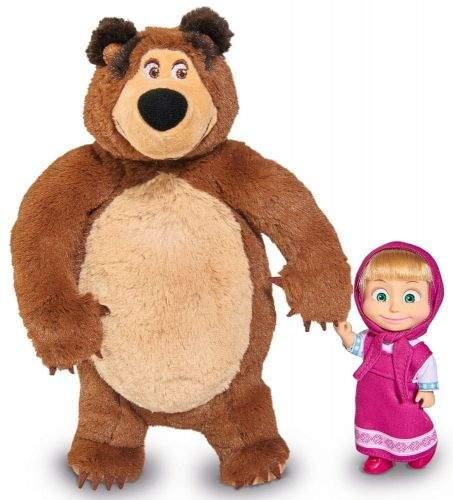 Simba Máša a medvěd Set Míša plyšový 25cm a panenka Máša 12cm