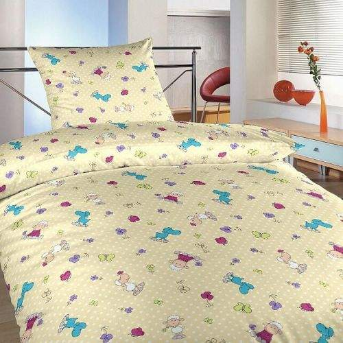 Dadka Povlečení bavlna do postýlky Ovečky malé fialové 90x130, 45x60 cm
