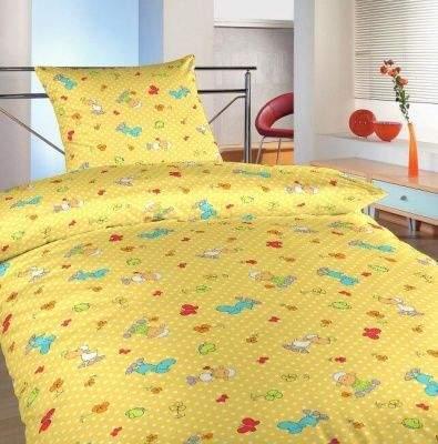Dadka Povlečení bavlna do postýlky Ovečky malé žluté 90x130, 45x60 cm