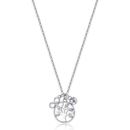 Brosway Ocelový náhrdelník Strom života s krystaly BHKL01 (řetízek, přívěsky)