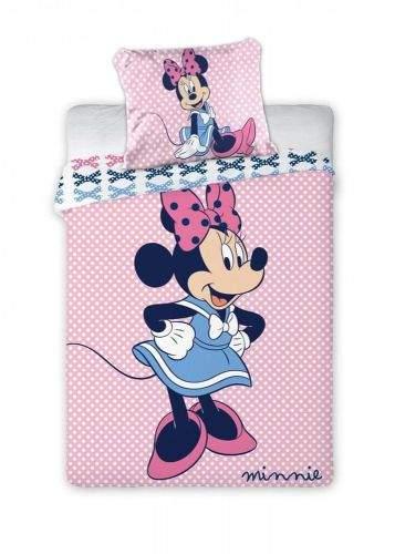 FARO Textil Dětské povlečení Minnie růžové 135x100 cm