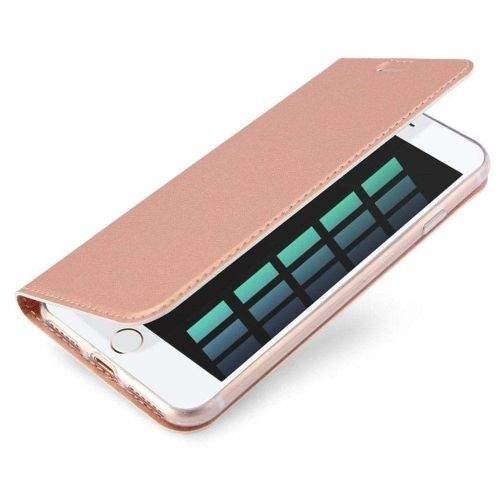Dux Ducis Skin Pro knížkové kožené pouzdro na iPhone 7/8 Plus, růžové