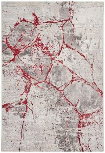 Mint Rugs AKCE: 200x290 cm Kusový koberec Opulence 104717 Silvergrey-red 200x290