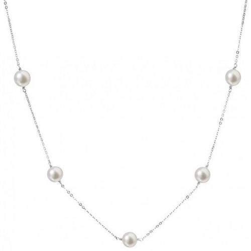 Evolution Group Stříbrný náhrdelník s pravými perlami Pavona 22015.1 stříbro 925/1000