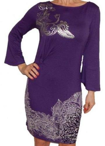 Desigual Fialové šaty DESIGUAL 69V20H0/5075 Velikost: M