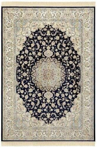 NOURISTAN AKCE: 135x195 cm Kusový koberec Naveh 104378 Darkblue/Cream 135x195
