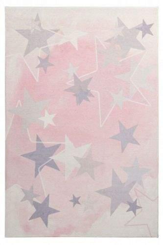 Obsession AKCE: 120x170 cm Dětský kusový koberec Stars 410 pink 120x170