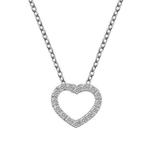 Hot Diamonds Srdíčkový náhrdelník Hot Diamonds Love DP662 (řetízek, přívěsek) stříbro 925/1000