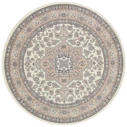 NOURISTAN AKCE: 160x160 (průměr) kruh cm Kruhový koberec Mirkan 104443 Cream/Rose 160x160 (průměr) kruh