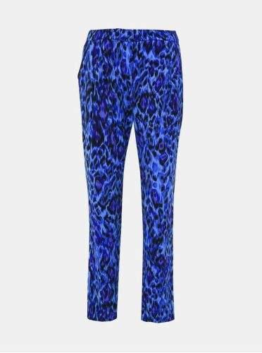 s.Oliver modré dámské kalhoty s leopardím vzorem M