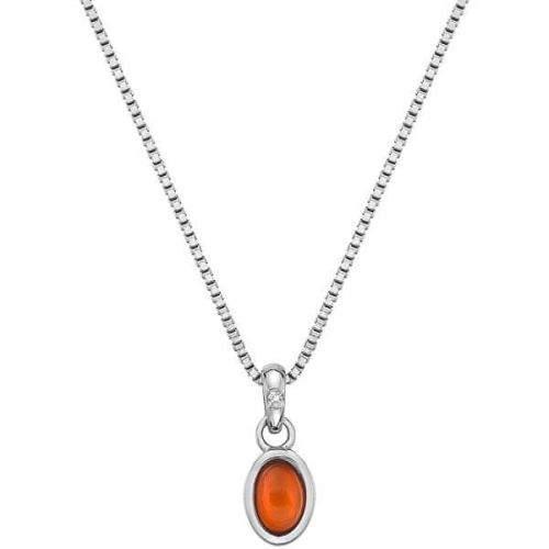 Hot Diamonds Stříbrný náhrdelník pro narozené v červenci Birthstone DP760 stříbro 925/1000