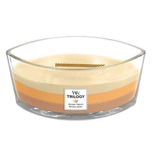 Woodwick Svíčka Trilogy , Zlaté lahůdky, 453.6 g