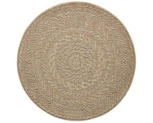 Bougari AKCE: 160x160 (průměr) kruh cm Kusový koberec Forest 103998 Beige/Brown 160x160 (průměr) kruh