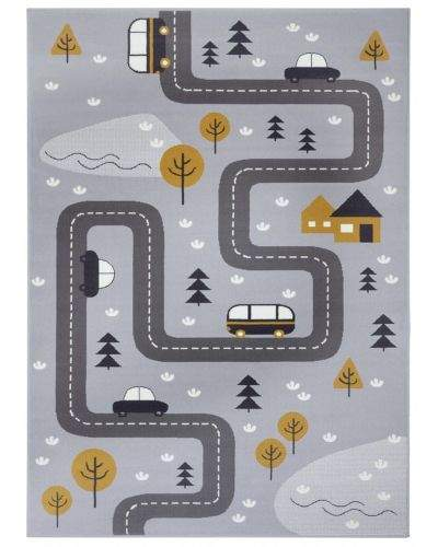 Hanse Home AKCE: 80x150 cm Dětský koberec Adventures 104535 Grey/mustard 80x150