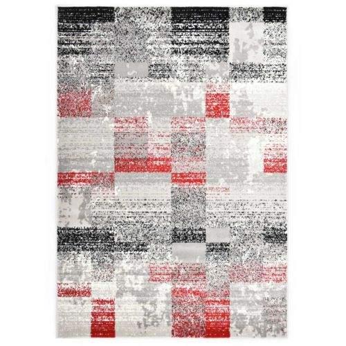 shumee Koberec šedo-červený 140 x 200 cm PP