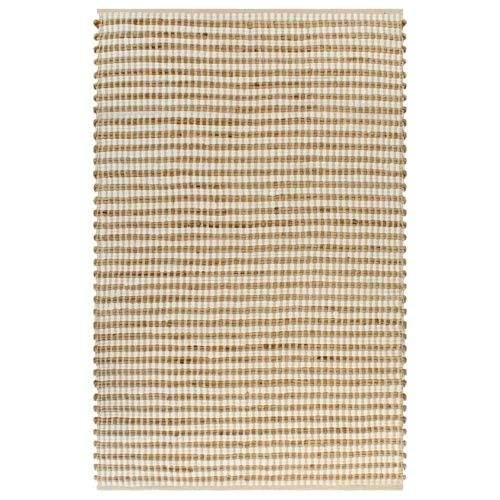 shumee Ručně tkaný kusový koberec z juty 120 x 180 cm přírodní a bílý