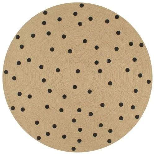 shumee Ručně vyrobený koberec z juty s puntíkovaným potiskem 90 cm