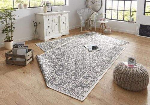 Bougari AKCE: 160x230 cm Kusový koberec Twin-Wendeteppiche 103116 grau creme 160x230