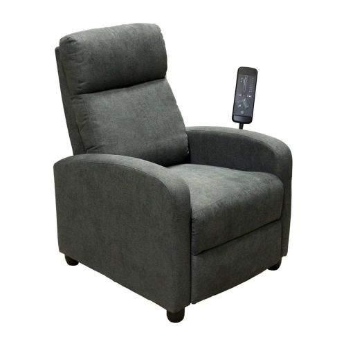 IDEA nábytek Masážní křeslo DELUXE šedé