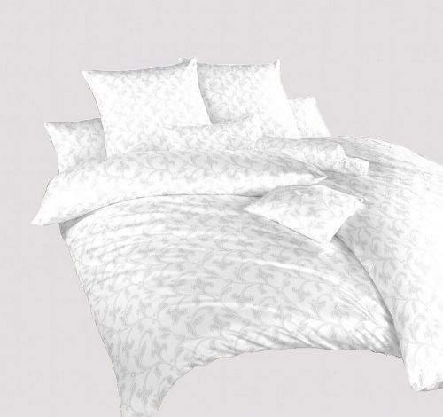 Dadka Povlečení damašek Rokoko bílé 50x70 cm povlak